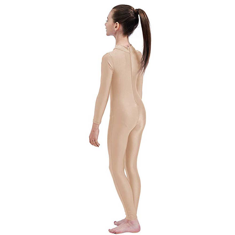 Speerise Bé Gái Tay Dài Màu Đen Unitard Bodysuit Bé Trai Thun Lycra Full Body Thun Jumpsuit Cho Trẻ Em Vũ Trang Phục Unitards