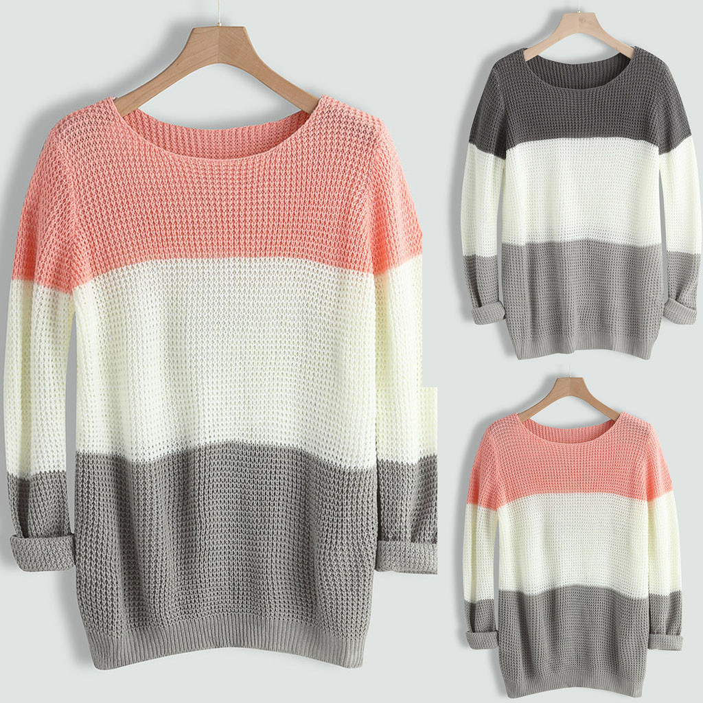 women's sweater pullover O-neck Sweater women Casual Knitted Loose Long Sleeve Tops Slim Fit Pullover winter clothes women