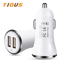 TIQUS 2.1A 24V Car Charger Dual USB For iPhone X 8 Plus Car-Charger With Micro Type Cable For iPhone Adapter For Samsung S8 car usb waterproof charger dual usb 12v 24v 3 1a ship type dual usb car charger voltmeter adapter for samsung iphone