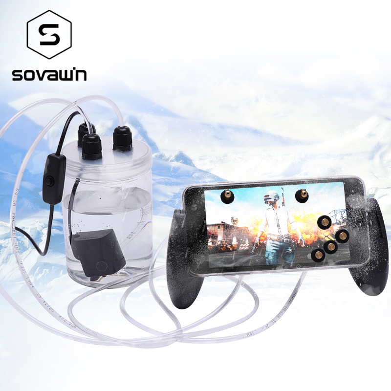 Sovawin Mobile Phone Cooling Fan Smartphone Pubg Controller Gamepad Cooler in Water Circulating Cooing Fan Case For iPhone 7P XR-in Mobile Phone Coolers from Cellphones & Telecommunications
