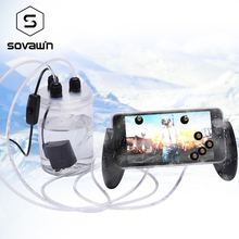 Sovawin Mobile Phone Cooling Fan Smartphone Pubg Controller Gamepad Cooler in Water Circulating Cooing Fan Case For iPhone 7P XR