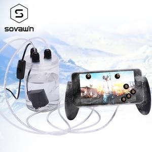 Image 1 - Sovawin telefon komórkowy wentylator chłodzący smartfon Pubg kontroler Gamepad chłodnicy w wody w obiegu wentylator chłodzący etui na iPhone 7P XR