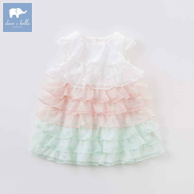 Dave bella Princess girls dresses children summer party wedding clothes kids lovely costumes baby gown DBB6872
