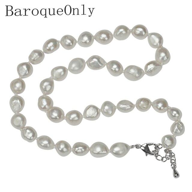 BaroqueOnly Tuyệt Vời giá AAAA chất lượng cao nước ngọt tự nhiên vòng cổ ngọc trai cho phụ nữ 3 màu sắc 10-11mm trang sức ngọc trai 45 cm