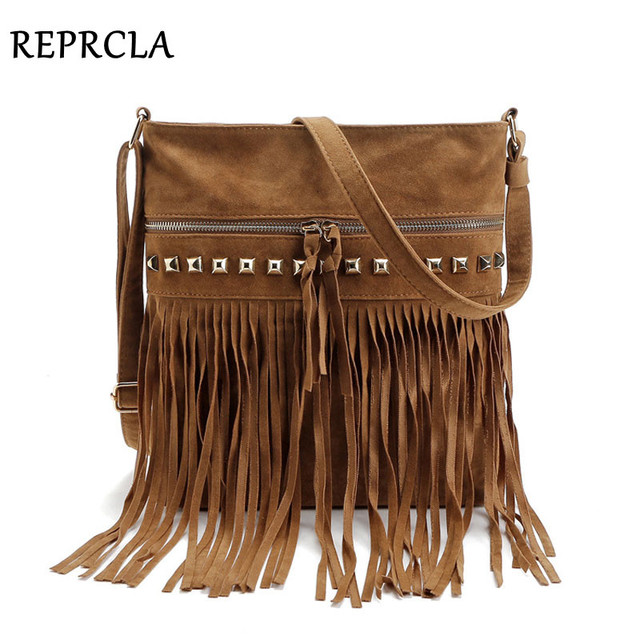 Fashion Rivet Tassel Women Bags High Quality Shoulder Messenger Designer Las Handbags Crossbody Bolsa Feminina