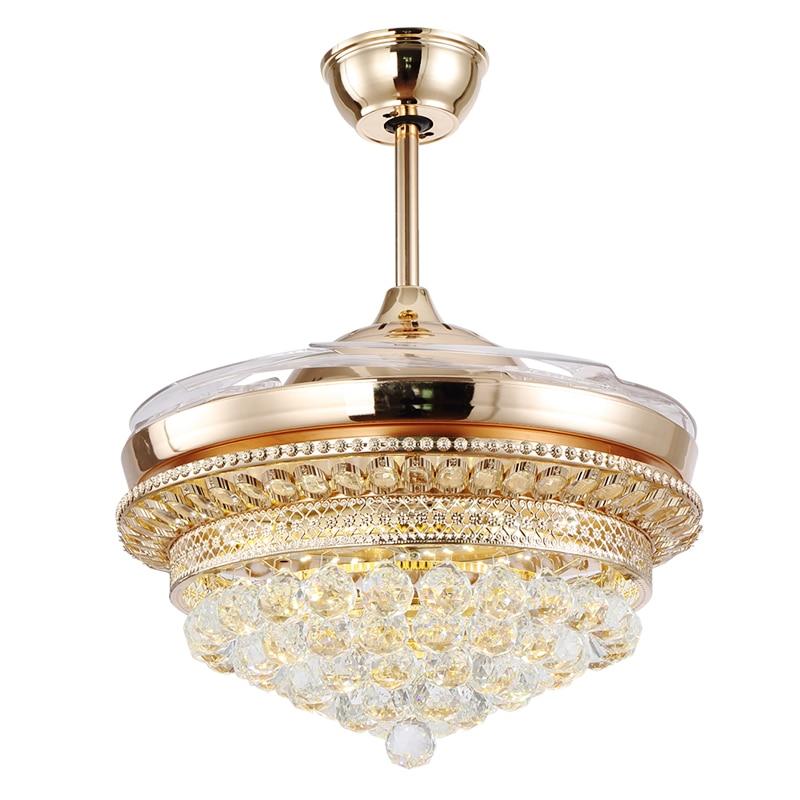 High Quality Ceiling Fan Room Radiator Fan Lighting Remote: 42 Inch High Quality LED Crystal Fan Lights Living Room