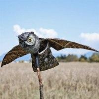 Flying Owl Decoy Pest Control Garden Mice Scarer Scarecrow Predator Decoy Pest Scarer Bird Deterrent Outdoor Garden Supplies