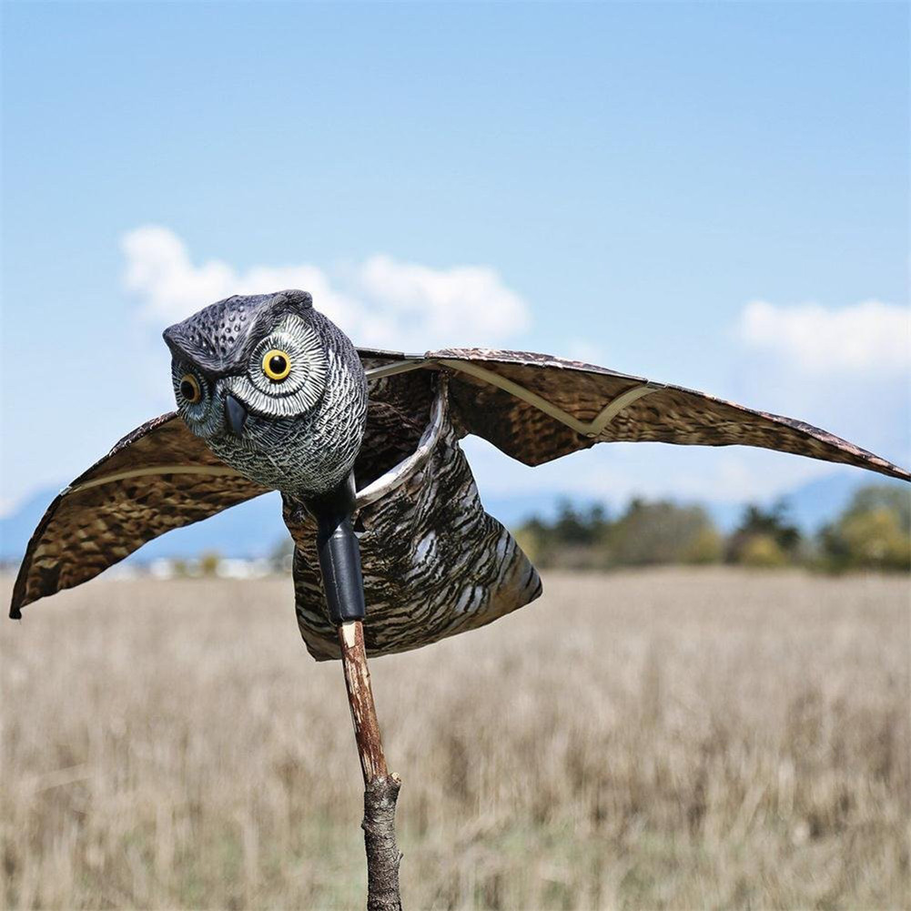 Flying Owl Decoy Pest Control Garden Mice Scarer Scarecrow Predator Decoy Pest Scarer Bird Deterrent Outdoor Garden Supplies