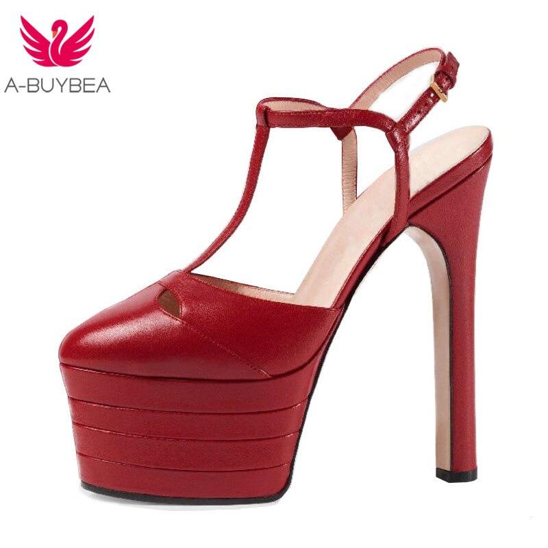 A-BUYBEA 16 Colors  Rivets Women Summer Shoes Woman's Super High Heels Sandals Platform Party Wedding Shoes Footwear size 34-39