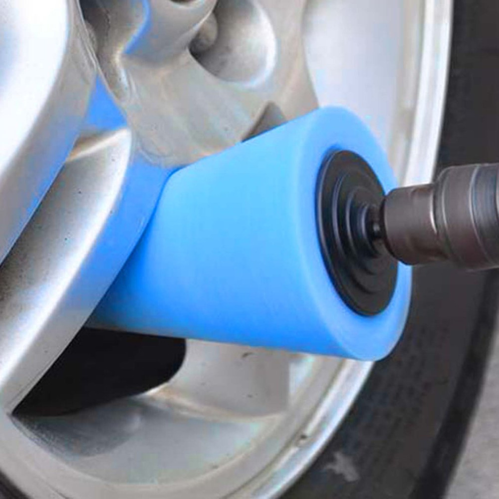 1x Sponge Cone Metal Polishing Foam Pad Wool Buffing: ForCar Wheel Hub Care Metal Pad Soft Type Burnishing Car