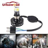 H6 h4 led farol da motocicleta oi lo feixe 6000 k 2000lm h4 led moto farol alto/baixo kit de conversão lâmpada acessórios moto