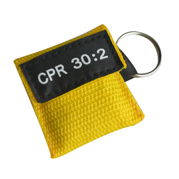 CPR First Aid Mask With Yellow Pocket 100pcs Disposable Resuscitator Skill Training Emergency Survive Tool