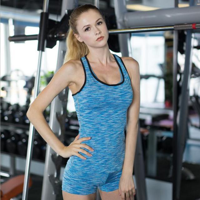 0c1abde9264dd Women Yoga Shirts Gym Yoga Women Shirt Stretch Tank Top Color Block  Racerback Fitness Tights Vest Lady Sport Suit Camisole