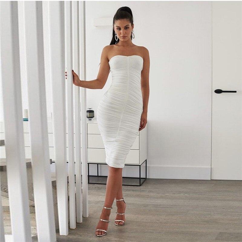 strapless midi bandage dress08