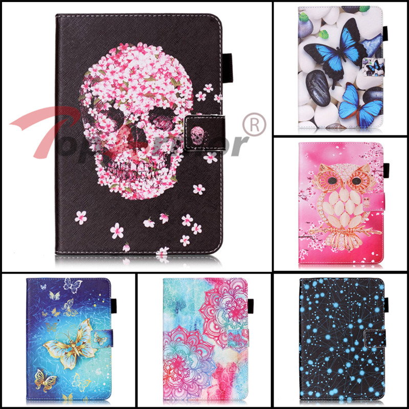Luxury Painted PU Leather Cover For Apple iPad mini 1 2 3 4 7.9 Case Anti skid Tablet Case Capa For iPad mini 1 2 3 4 Case Bags