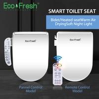 EcoFresh сиденье на унитаз с подогревом Смарт Биде Туалет умывальник Электрический биде крышка умное сиденье для унитаза led освещение сиденье