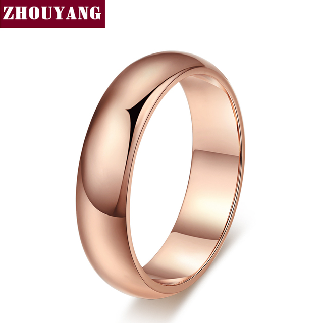Simple Style Rose Gold Color Jewelry Wedding Couple Ring Full Sizes Wholesale To