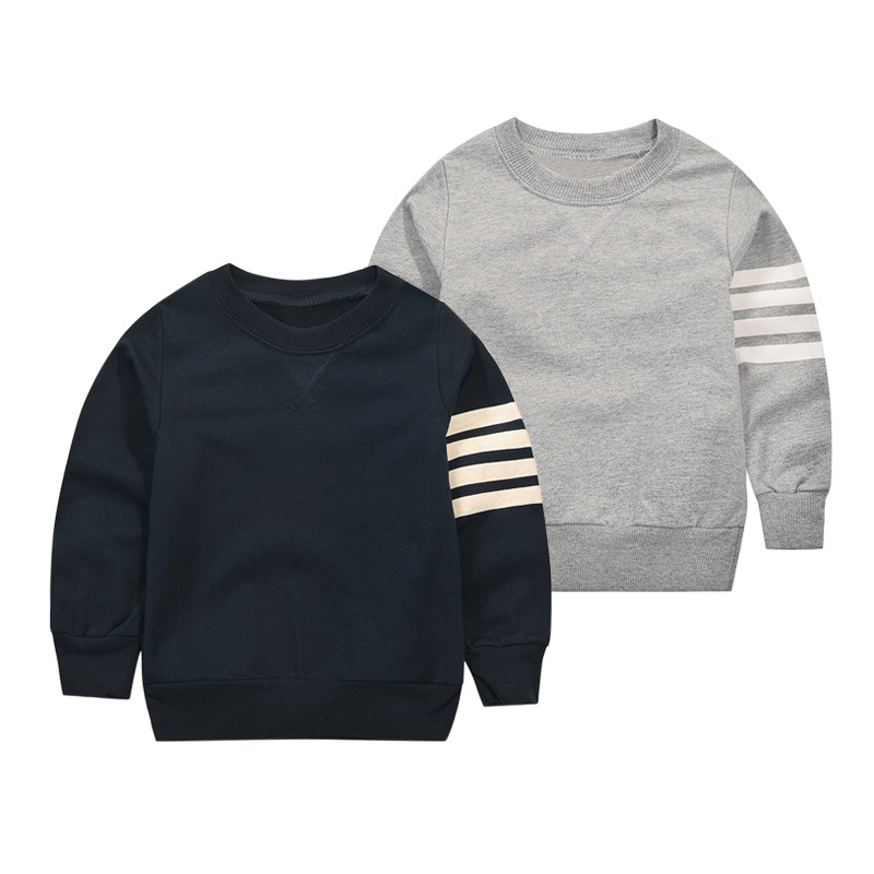 Autumn Baby Boys Girls Hoody Children Clothing 2017 Brand Clothes Long Sleeve Solid Stripe Kids Fleeces for Boy Sweatshirt