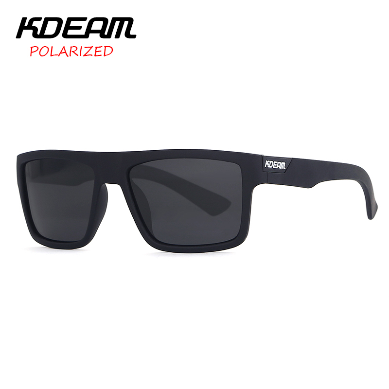 66c65b2a27f 2018 KDEAM Men Sport Sunglasses Mirror Polarized lens Unisex Square Sun Glasses  Outdoor Eyewear 5 Colors UV400 With Case KD05X