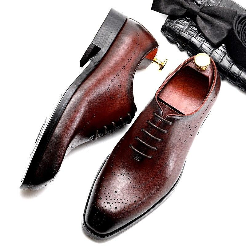 Homens Sapatos Moda Genuíno red Zgzjywm up Bico Da Sólidos Masculino vermelho Oxfords Black Negócios Preto Oxford Lace Vestido Fino Casamento De Couro dgawCxEwHq