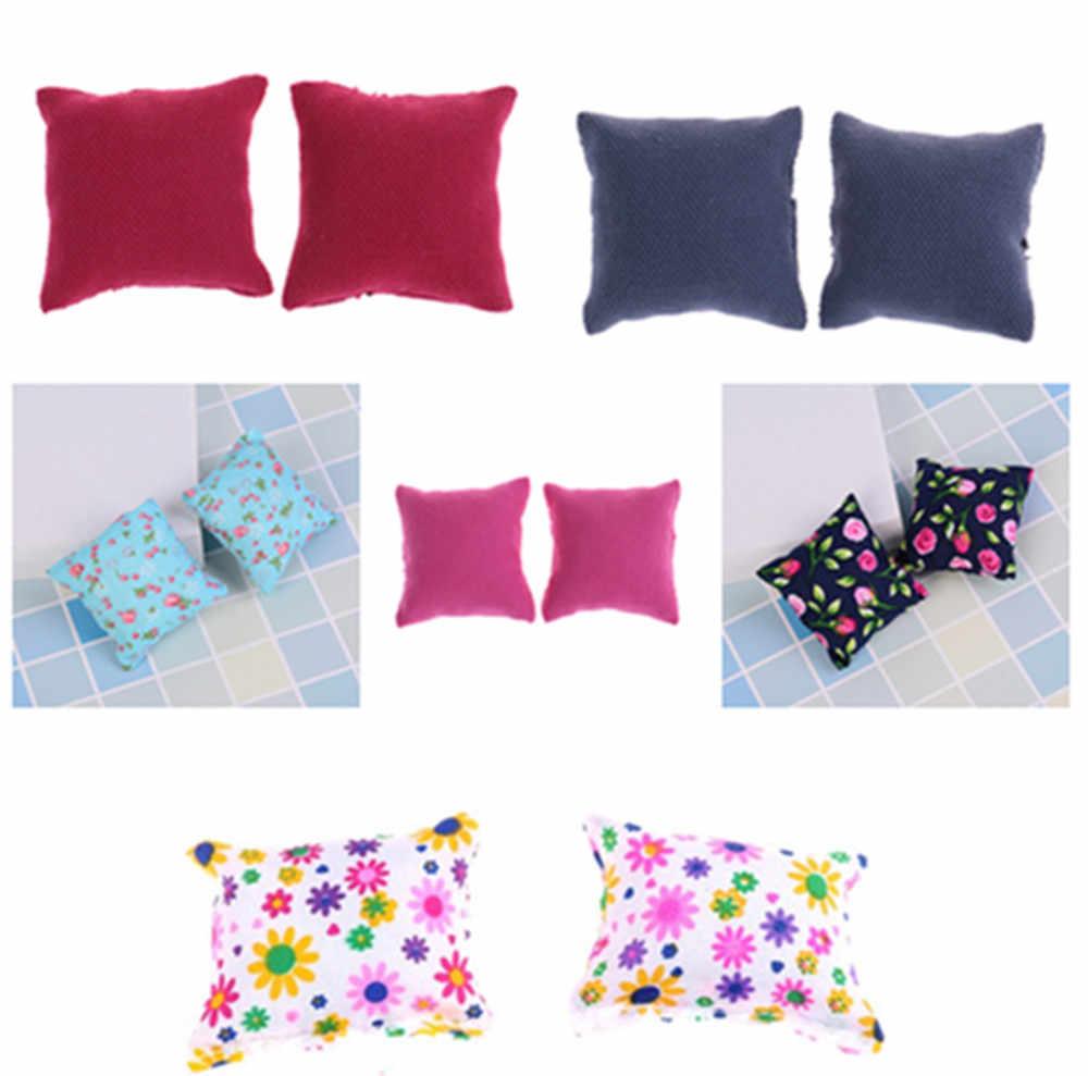 חדש 1/2/3Pcs כרית כריות נעלי ספת ספת המיטה 1/12 בית בובות מיניאטורות ריהוט צעצועי ללא ספת כיסא תינוק