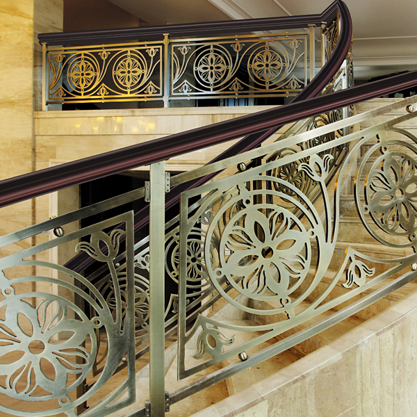 Vintage Style Antique Bronze Flowers Carving Stair Railing, High Quality  Workmanship Fence