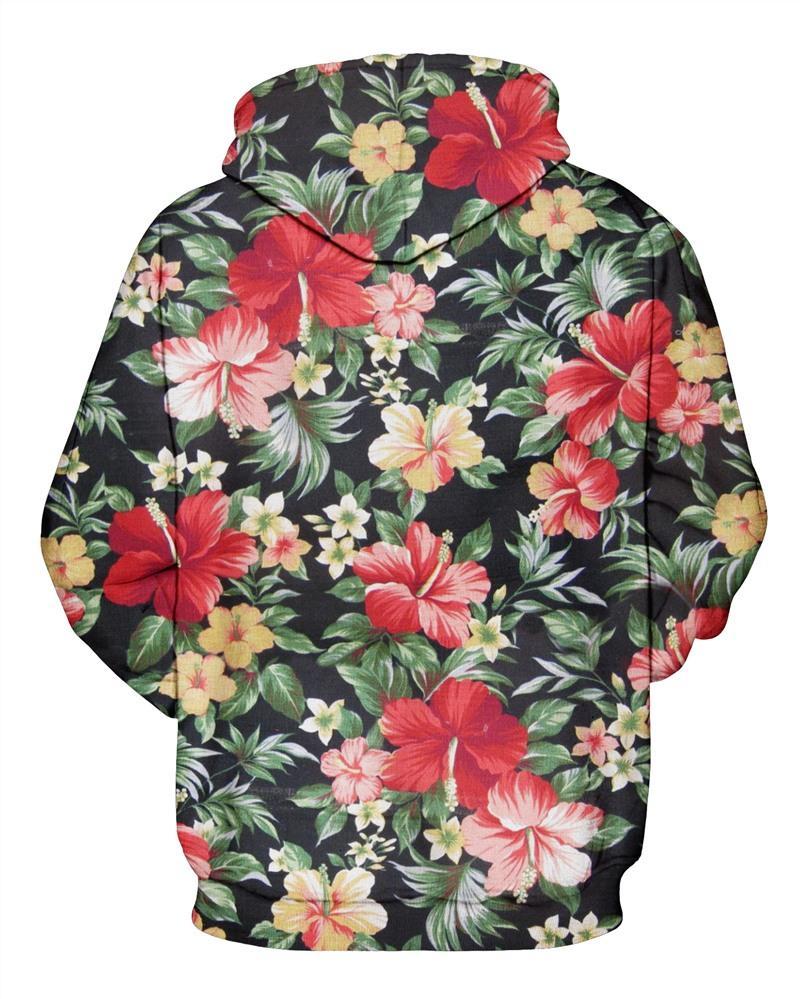 Raisevern New 3d Hoodies Floral Facts Print Men Women Brand Clothing