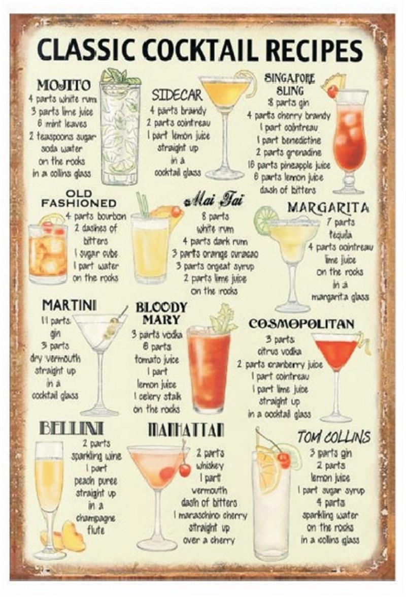 Aliexpress.com : Buy Vintage Home Decor Classic Cocktall ...