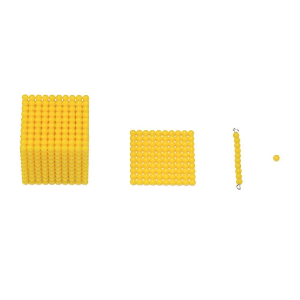Enjoybay boîte en bois décimale Montessori jeu nombre comptage décimal enseignement jouet début d'apprentissage éducatif mathématiques jouet pour les enfants - 5