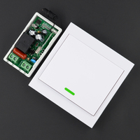 AC 220V Receiver Wireless Remote Control Switch Wall Panel Remote Transmitter Hall Bedroom Ceiling Lights Wall