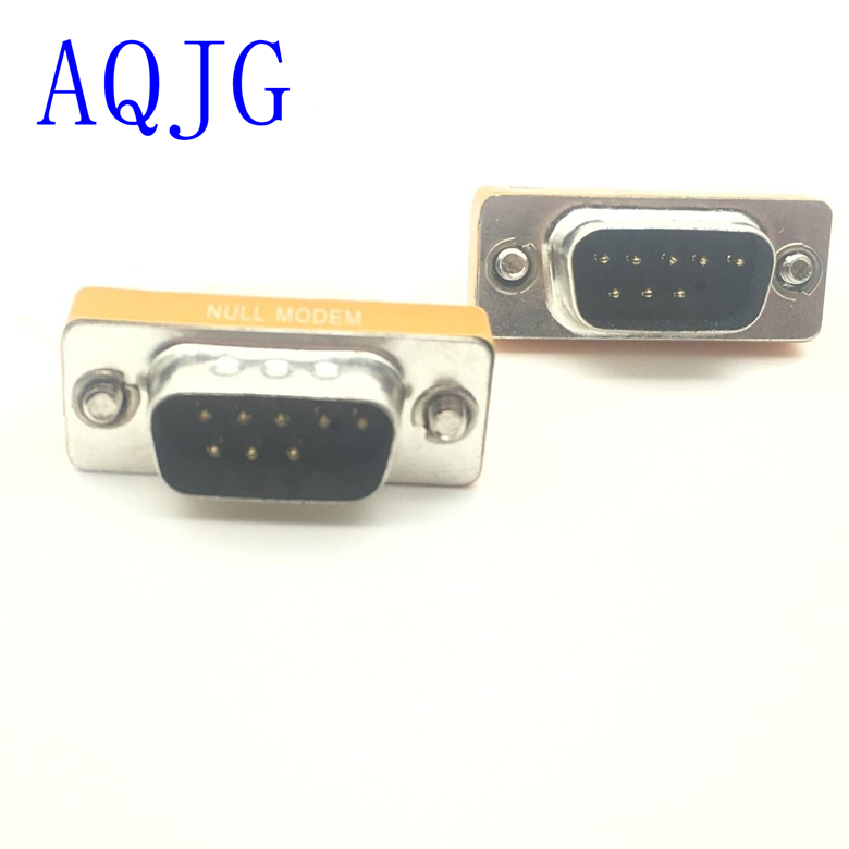 new Mini Null Modem DB9 feMale to DB9 feMale plug Adapter Gender Changer 1pcs rs232 gender changer db9 9pin female to male vga gender changer adapter male to female wholesale new