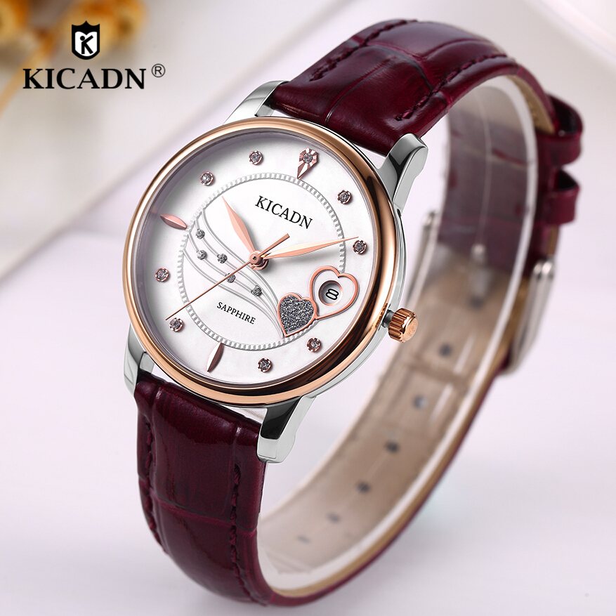 Woman Fashion Watch Ladies Quartz Watches Women Luxury Leather Strap Wristwatches Analog Heart Shape Girls Clock Montre Femme 7pcs embroidery cot sheet baby crib bedding set cotton crib bumper baby cot sets include bumper duvet sheet pillow