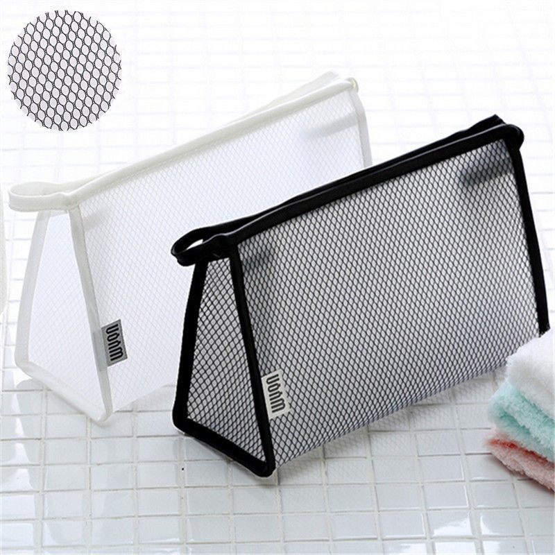 Clear Transparent Plastic Case Waterproof Cosmetic Bags Women's Daily Transparent Travel Makeup Toiletry Case PVC