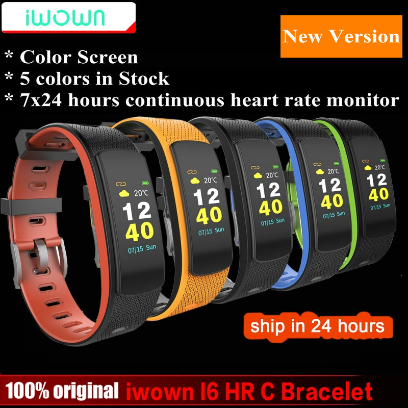 IWOWN I6 HR C Smartband Color Screen Heart Rate Monitor Smart bracelet Sport Wristband Smart Band Fitness Tracker VS Mi Band 1S edwo df23 smartband heart rate monitor waterproof swimming smart wristband health bracelet fitness sleep tracker for ios android