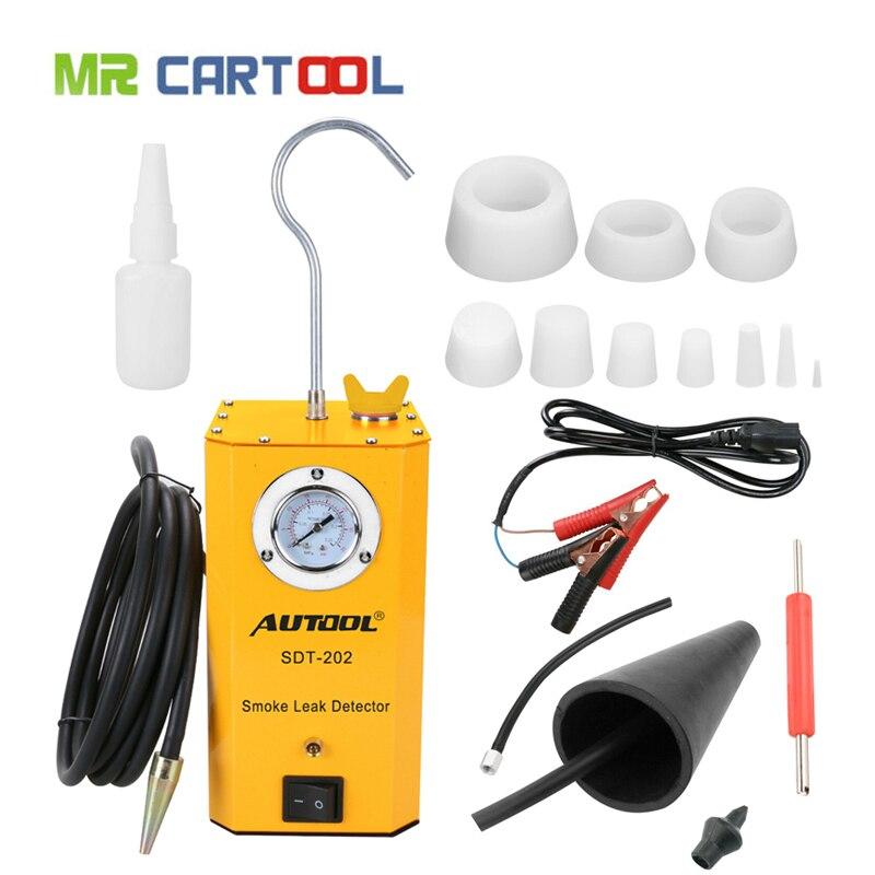 Neu AUTOOL SDT-202 Rauch Maschine für Motorrad/Autos/SUVs/Lkw Leck Detektor von Rohr Systeme außer EVAP rauch Leckage Tester