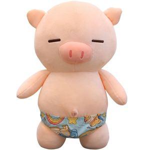 75 см мягкая пляжная поросенок, плюшевая игрушка, мягкие милые животные, поросенок, милые куклы для детей, игрушка, украшение для детской комн...