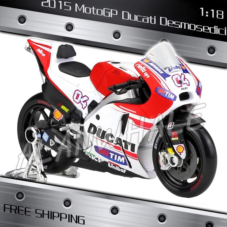 1:18 Scale New 2015 MotoGP Ducati Desmosedici Metal Diecast Model ...