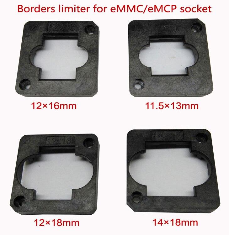 EMMC/eMCP testsockel grenzen limiter rahmen guider 11,5*13mm, 12*16mm, 12*18mm, 14*18mm, für clamshell struktur buchse