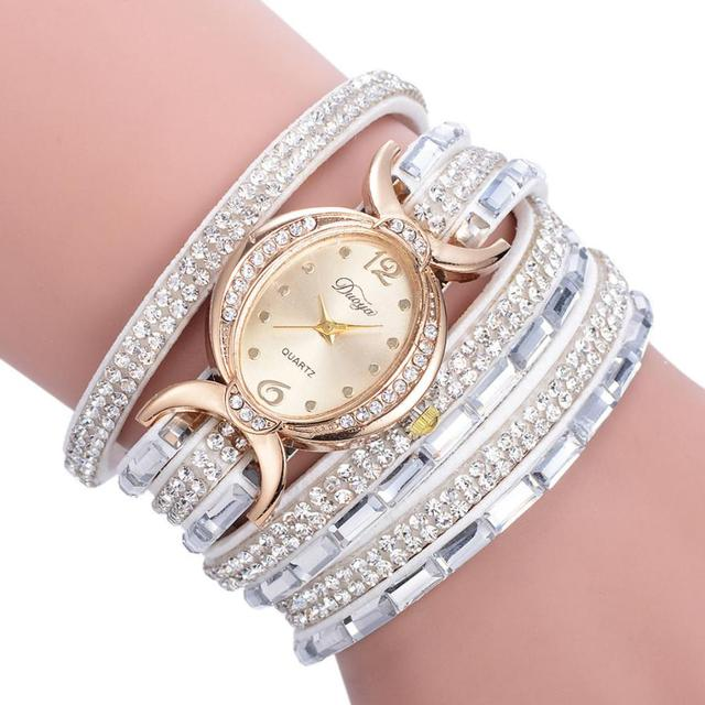 Ladies' Bracelet Watches Diamond Circle Luxury Watches Women Gold Watch Female Q