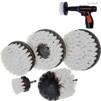 2 3.5 4 5 inch solid  hollow Drill Power Scrub Clean Brush For Leather Plastic Wooden Furniture  Cleaning Power Scrub, White