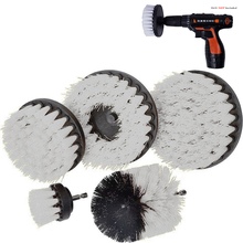 2 3.5 4 5 inch solid  hollow Drill Power Scrub Clean Brush For Leather Plastic Wooden Furniture Cleaning Scrub, White