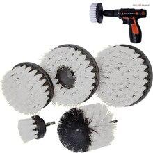 2 3,5 4 5 pulgadas solid hollow Drill Power cepillo de limpieza para cuero plástico muebles de madera limpieza Power Scrub, blanco