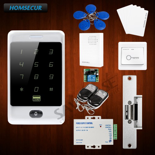 HOMSECUR Waterproof Door Lock Access Control System Supporting Card Only, PIN Only, Card+PIN + Anti-tamper