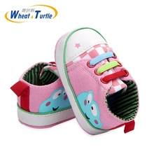 Toddler Shoes Newborn Infant Baby Canvas Anti-slip Crown Print Soft Sole Shoe Fashion Geometric Cotton