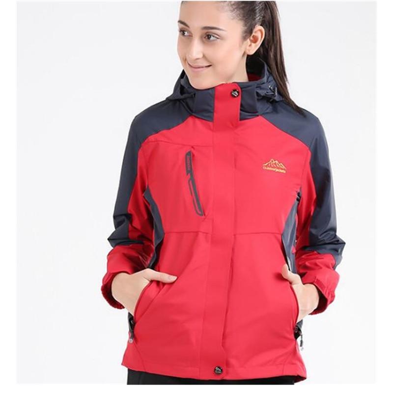 ФОТО Winter Outdoor Jacket 3 in 1 jacket Women Windproof waterproof Mountaineering skiing camping hunting rain Winter Sports Jacket