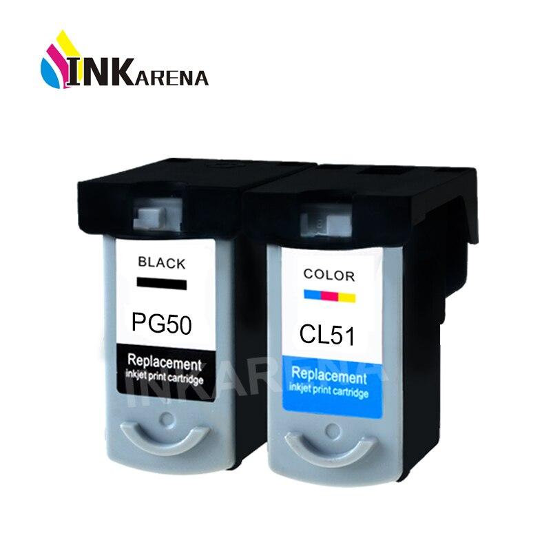 Cartouches d'encre PG 50 CL 51 PG50 CL51 Pour Canon Pixma iP2200 iP6210D iP6220D MP150 MP160 MP170 MP180 MP450 MP460 MX300 MX310