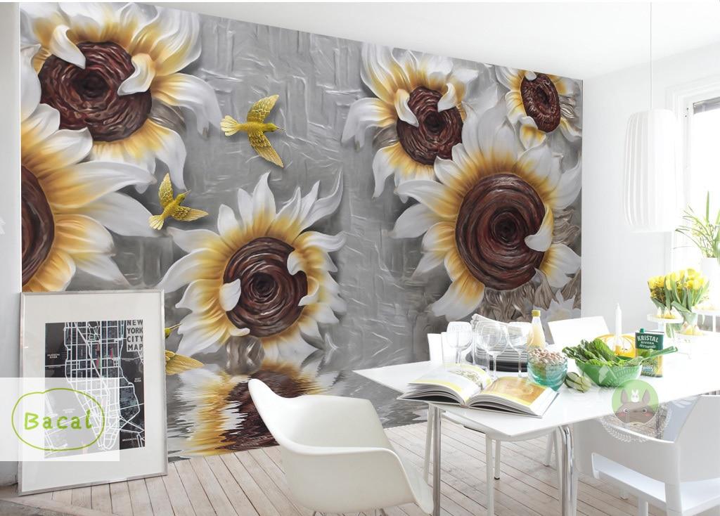 Custom Wallpaper 3D Stereoscopic Embossed Gray Beauty Oil Painting Modern