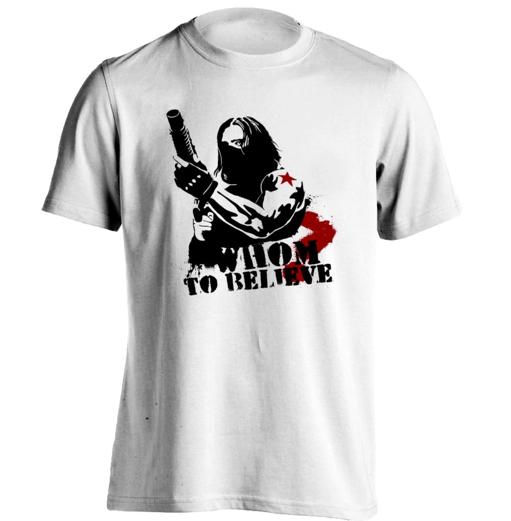 Winter soldier mens womens printing t shirt baseball t for Print one t shirt
