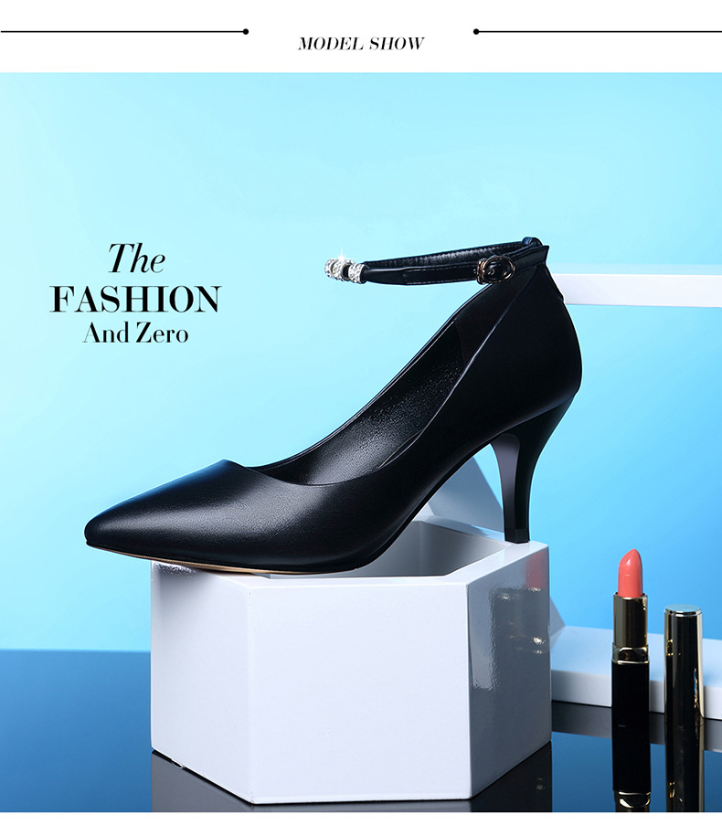 069bf65f867 LAIKAJINDUN Fashion Women Elegant Heel Shoes Ladies Leisure Office Ankle  Strap Buckle Pumps Girls Sweet Black Nude shoes