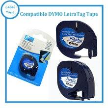 3PK/lot DYMO Letratag пластиковая лента 12 мм черный на белом LT LT 91201 для dymo принтера БЕСПЛАТНАЯ ДОСТАВКА